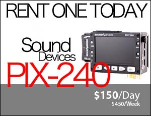 Sound Devices Pix 240 Rental Utah